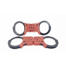 Grillete rígido plegable ULTIMATE negro/rojo doble cerradura TCH852B/R