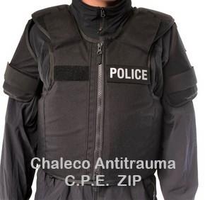 Chaleco C.P.E Antitrauma ZIP
